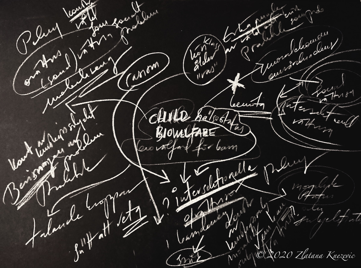 copyright 2020 Zlatana Knezevic research-art blackboard art dissertation sketch